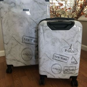 BCBG Marble Luggage Set
